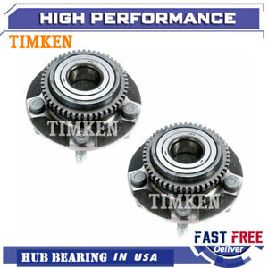 Timken Pair Front Wheel Bearing Hub Assembly W abs For 94 04 Ford Mustang 5lug