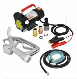 Electric Diesel Oil And Fuel Transfer Extractor Pump Set Portable Lightweight