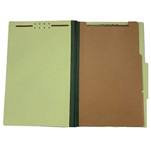 The File King Pressboard Classification Green Partition File Folder Legal Size