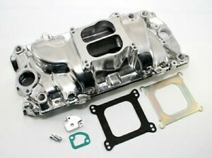 Bbc Big Block Chevy 396 Oval Port Polished Aluminum Intake Manifold Power Plus