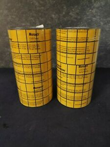 Lot Of 2 Avery Monarch 1136 Yellow Black Labels Plus 1138 Ink Roller