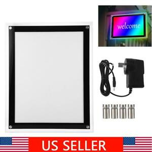 A3 Led Acrylic Light Box Picture Poster Display Advertising Led Menu Frame Board