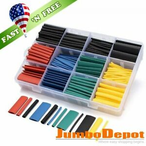 530pcs 2 1 Heat Shrink Tube Tubing Sleeve Wrap Wire Cable Insulated Assorted Kit