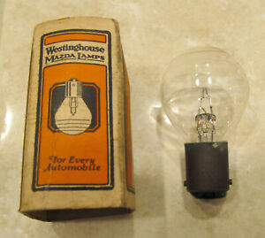 Nos Ford Model T Tt Ford Ringed Headlamp Bulb Westinghouse 6 8 V 21 21 Cp 1114