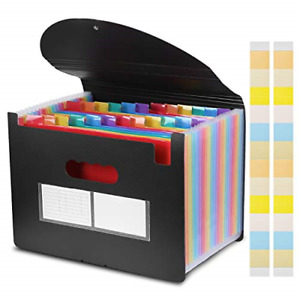 24 Pockets Expanding File Folder With Cover Acordian File Organizer A4 Size File