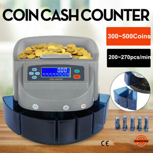 Electronic Coin Counter Sorter Automatic Money Counting Machine Digital Us