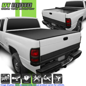 Roll Up Tonneau Cover For 2009 2018 Dodge Ram 1500 2010 18 2500 3500 6 5ft Bed