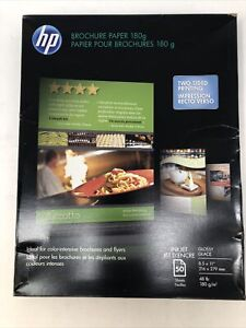 Hp Brochure Flyer Paper 8 5 X 11 48 Lb Glossy 98 Brightness 50 Sheets