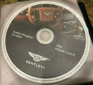 2004 2006 Bentley Continental Flying Spur Gps Navigation Cd South Central Map