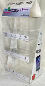 Clear Acrylic Lucite Counter Display Case Iphone Family Video