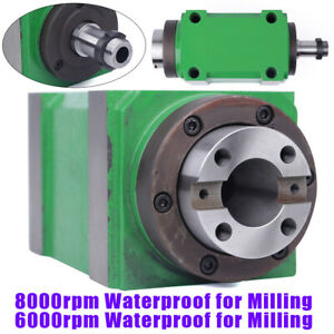 Drilling Milling Head Bt30 Spindle Unit 7 24 Taper 8000rpm Barings Cnc Machine