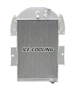 Chevy Pickup Truck 3 4l 6 Cylinder L6 3 Row 3436 Aluminum Radiator Fit 1935 1936