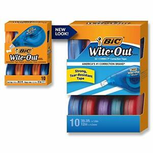 Bic Wite out Brand Ez Correct Correction Tape White 10 count