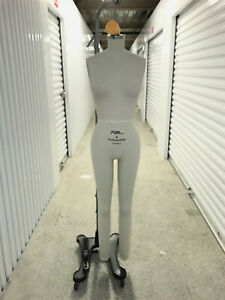 Pgm Full Body Professional Dress Form Size 6 With Collapsible Shoulders