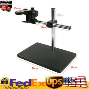Heavy Duty Boom Large Stereo Table Stand 50mm Ring For Microscope Holder Hotsale