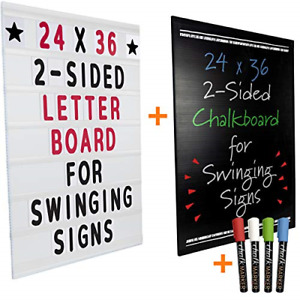 24 x36 Replacement Changable Letter Message Board For Swinging Signs Includes