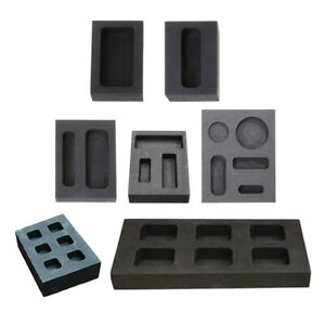 1 Set of Ingot Mold Silver Plated Metal Corrosion Resistance $45.41