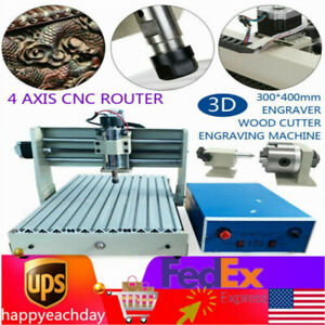 Cnc 3040 4axis 3d Wood Drilling Milling Machine Engraving Router controller 400w