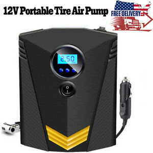 Car Air Compressor Heavy Duty Digital Tire Inflator Portable Pump 12v 150psi Usa