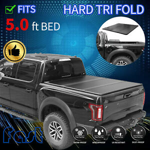 For 2005 2015 Toyota Tacoma Truck 5 0ft Bed Short Hard Tri fold Tonneau Cover