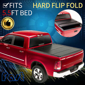 Flip Folding Truck 5 5ft Bed Hard Tonneua Cover For 2015 2021 Ford F150