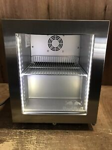 Red Bull Mini Refrigerator Counter Top Eco Cooler Fridge Stainless Steel A