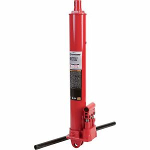 Strongway Hydraulic Long Ram Jack 8 ton Capacity Double Piston Clevis Base