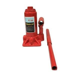 Low Profile Hydraulic Bottle Jack 4 Ton Automotive Shop Axle Jack Hoist Lift