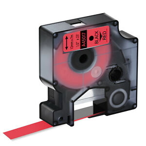 1pk Compatible Black On Red Dymo D1 45017 Labelmanager 100 Label Tape 0 47