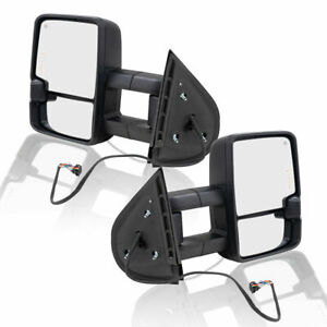 Power Heated Tow Mirrors Signal Performance Upgrade For Gmc Chevy Cadillac Pair