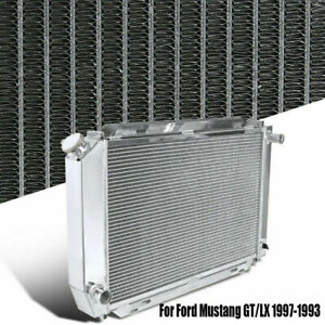 Manual Transmission Racing Radiator For 1979 1993 Ford Mustang Gt Lx 5 0l V8