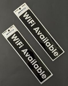 Wifi Available Sign Sticker Decal For Restaurants Businesses Office set Of 2