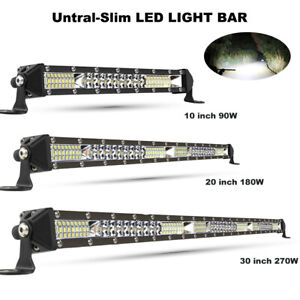 Led Bar Light Bar Driving Off Road 4wd Atv Truck Spot Flood Beam 10 20 30inch