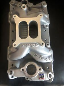 Edelbrock 7501 Rpm Air Gap Intake Manifold 1955 86 Small Block Chevy 262 400