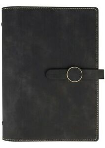 Grope A5 Refillable Planner Binder Inserts 6 Ring Black Journal