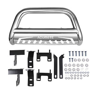 Stainless Steel Bull Bar Bumper Grille Guard Fits For 2009 2016 Dodge Ram 1500