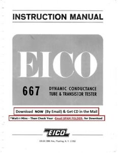 Eico 667 Dynamic Conductance Tube And Transistor Tester Instruction Manual
