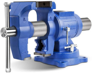 Forward Dt08125a 5 inch Heavy Duty Bench Vise 360 degree Swivel Base And Head