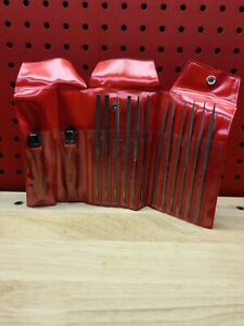 Snap on 14pc Swiss Needle File Set Hbfn120a Hf611a Pouch See Details