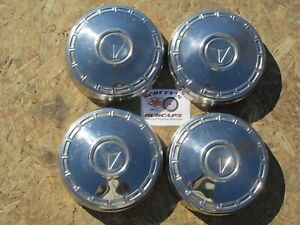 1967 1968 1969 Plymouth Valiant Poverty Dog Dish Hubcaps Set Of 4