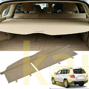 Rear Trunk Security Cargo Cover Luggage Shade For 2008 2013 Toyota Highlander