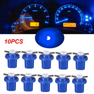 10pcs B8 5 5050 1smd Instrument Cluster Guage Speedometer Blue Led Bulbs Light