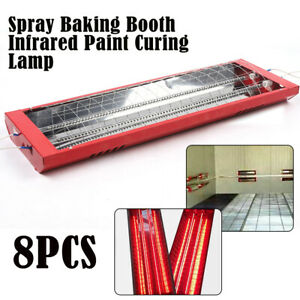 2000w Spray Baking Booth Infrared Red Paint Curing Light Heating Lamp Heater X8