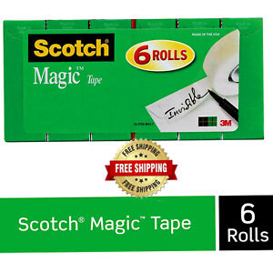 Scotch Tape Refill Magic 3 4 X 1000 Inches Boxed 6 Rolls Invisible Free Shipping