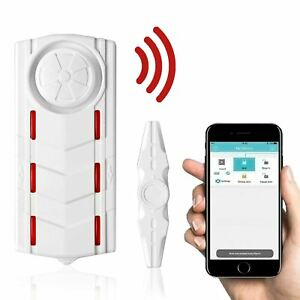 Wireless Anti theft Vibration Security Alarm Magnetic Sensor Door Burglar App Us