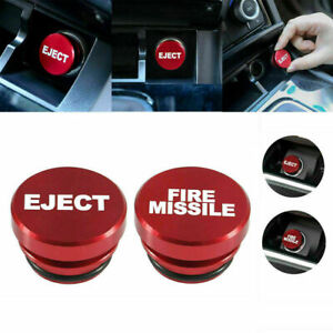 Universal Fire Missile Eject Button Car Cigarette Lighter Cover Accessories 1pc