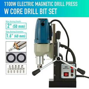 1100w Compac Electric Magnetic Drill Press Bores Blue Up To 2 deep 1 6 across