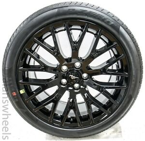 4 New Ford Mustang 19 Staggered Factory Oem Black Track Pack Wheels Rims Tires