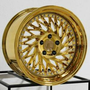4 Directional Aodhan Ds03 Ds3 18x9 5 5x100 35 Gold Vacuum Wheels 4 73 1 18 Inc