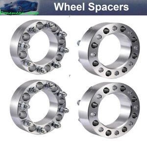 4pcs 2 Hubcentric Wheel Spacers 8x6 5 Adapters 9 16 Studs For Dodge Ram 3500